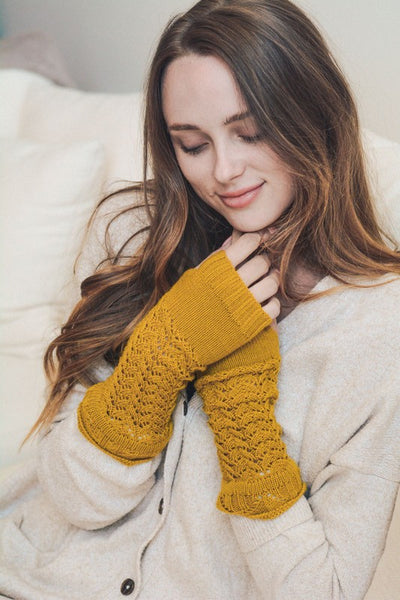 Arm Warmers in Mustard - Enclothe Boutique