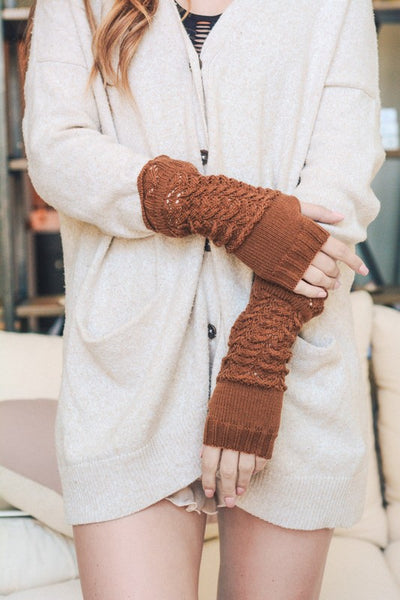 Arm Warmers in Camel - Enclothe Boutique