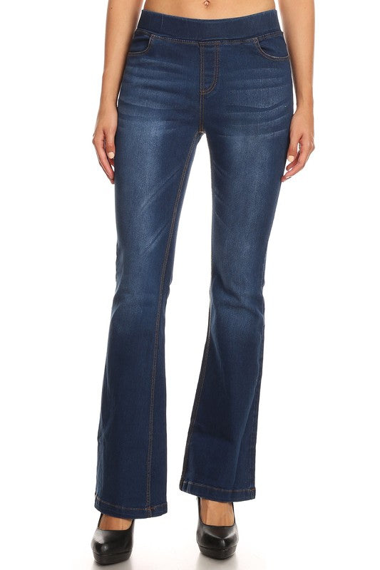 Pull-on Skinny Boot Jeans - Enclothe Boutique