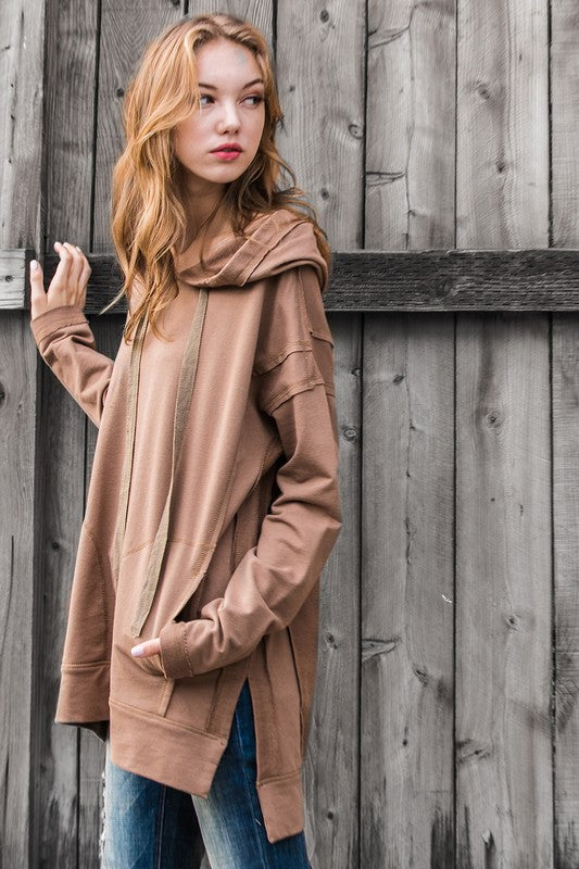 Mittoshop Mocha Hooded Sweatshirt