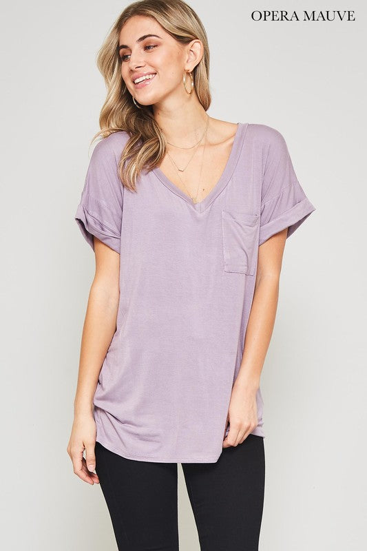 Not Your Boyfriend's Slouchy Tee in Opera Mauve - Enclothe Boutique