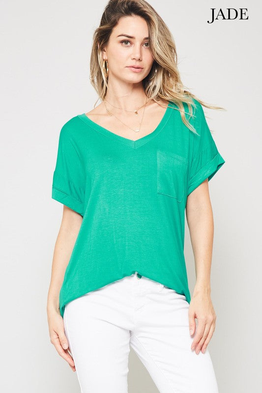 Not Your Boyfriend's Slouchy Tee in Jade - Enclothe Boutique