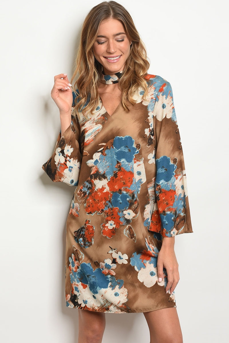 Gilli Brown Dress - Enclothe Boutique