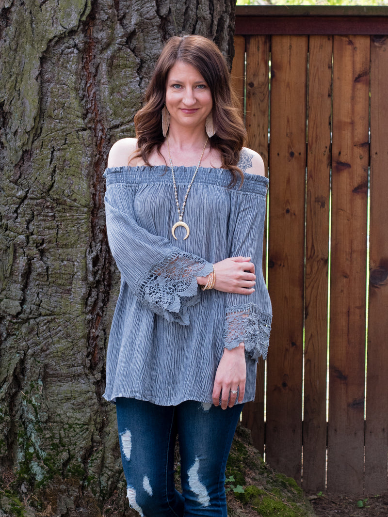 Shoulder Show Off Blouse - Enclothe Boutique