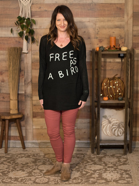 Fly High Little Bird Oversize Sweater - Enclothe Boutique