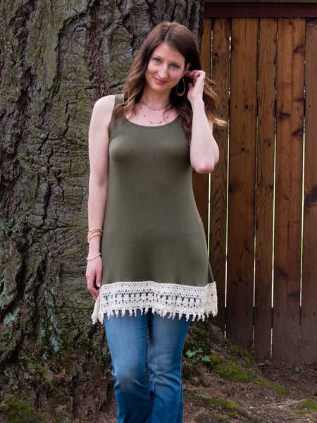 Crochet Bottom Layering Tank - Enclothe Boutique