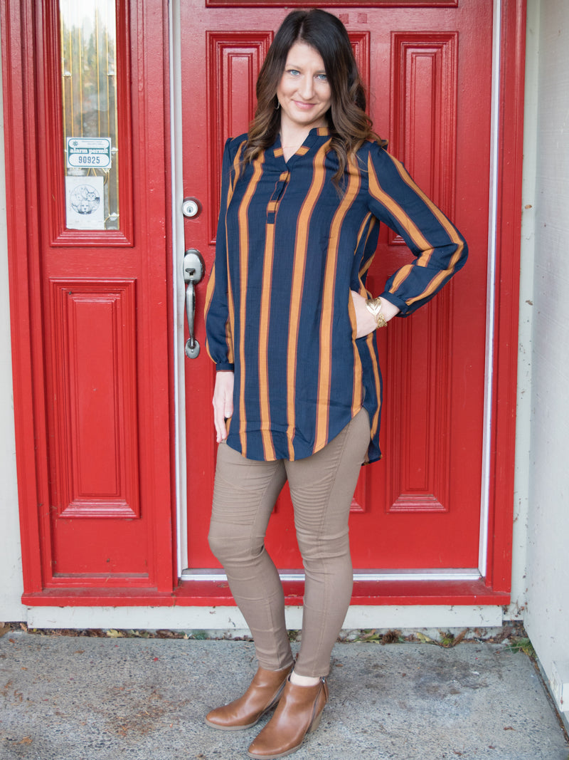 Born to be Bold Striped Tunic - Enclothe Boutique
