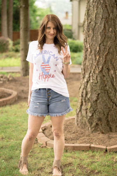 American Hippie Distressed Graphic Tee - Enclothe Boutique