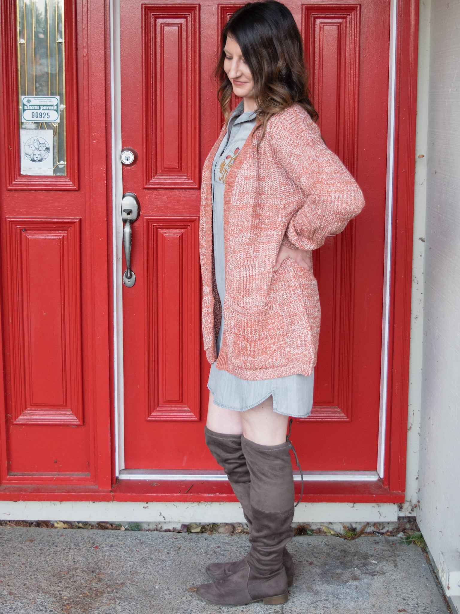 Outlook is Rosey Cozy Cardigan - Enclothe Boutique