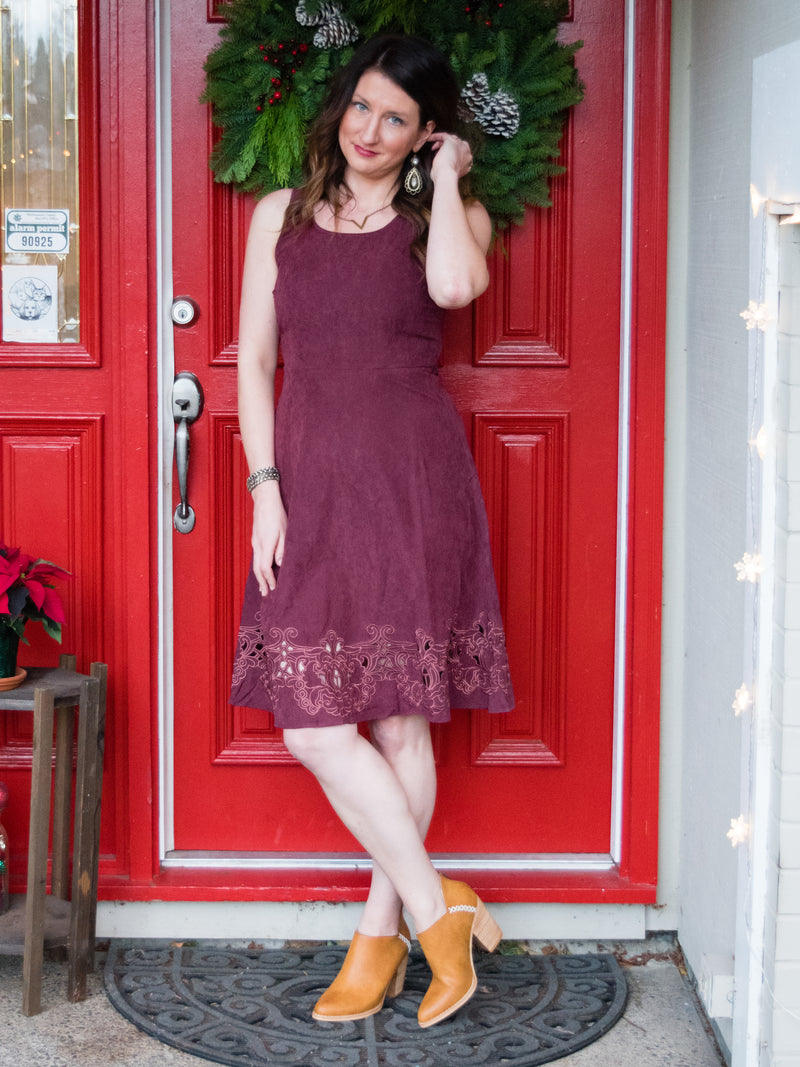 Sueded Beauty Holiday Dress - Enclothe Boutique