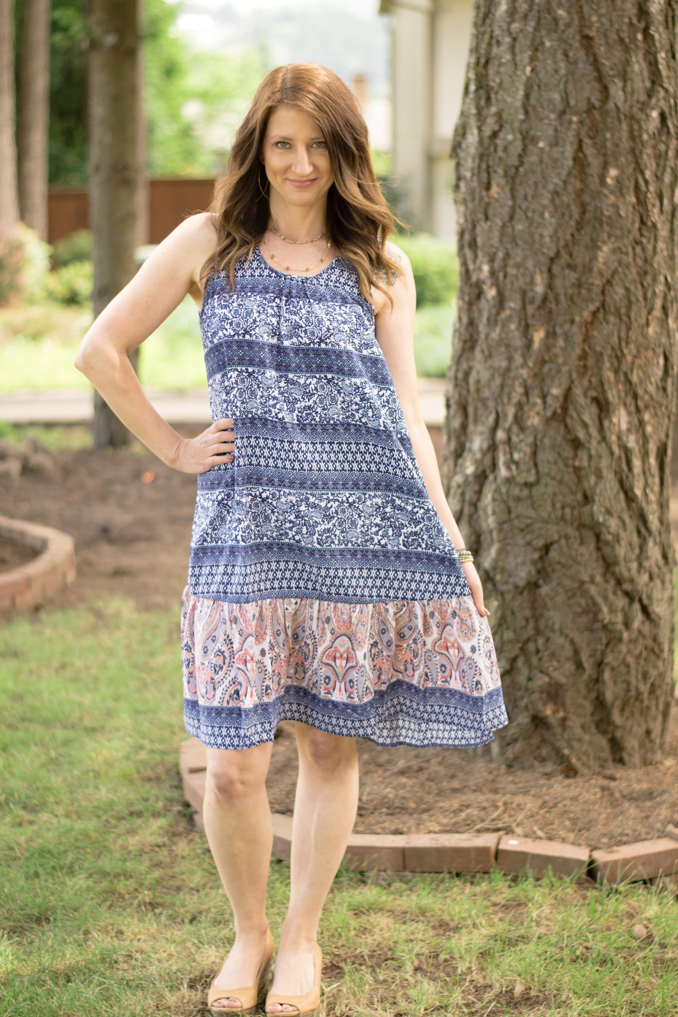 Printed Paisley Perfection Dress - Enclothe Boutique