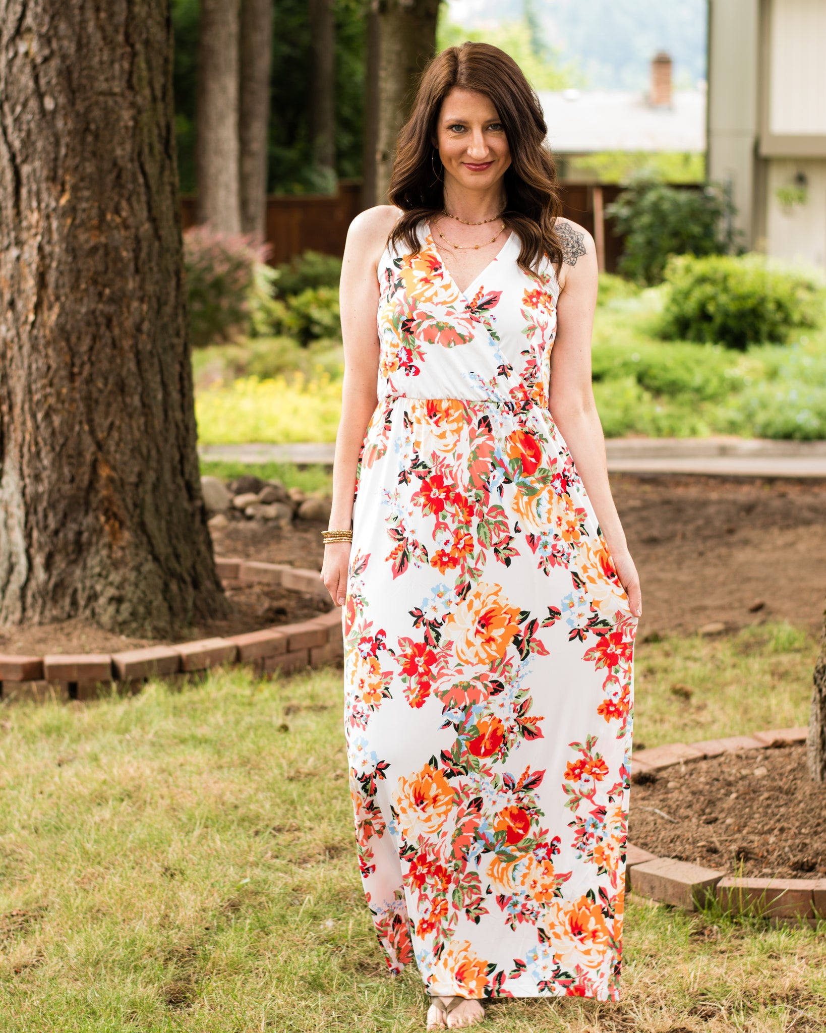 Summer Days Floral Maxi Dress - Enclothe Boutique