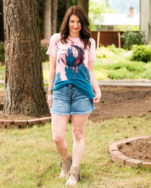 Stay Wild Moon Child Distressed Tee - Enclothe Boutique
