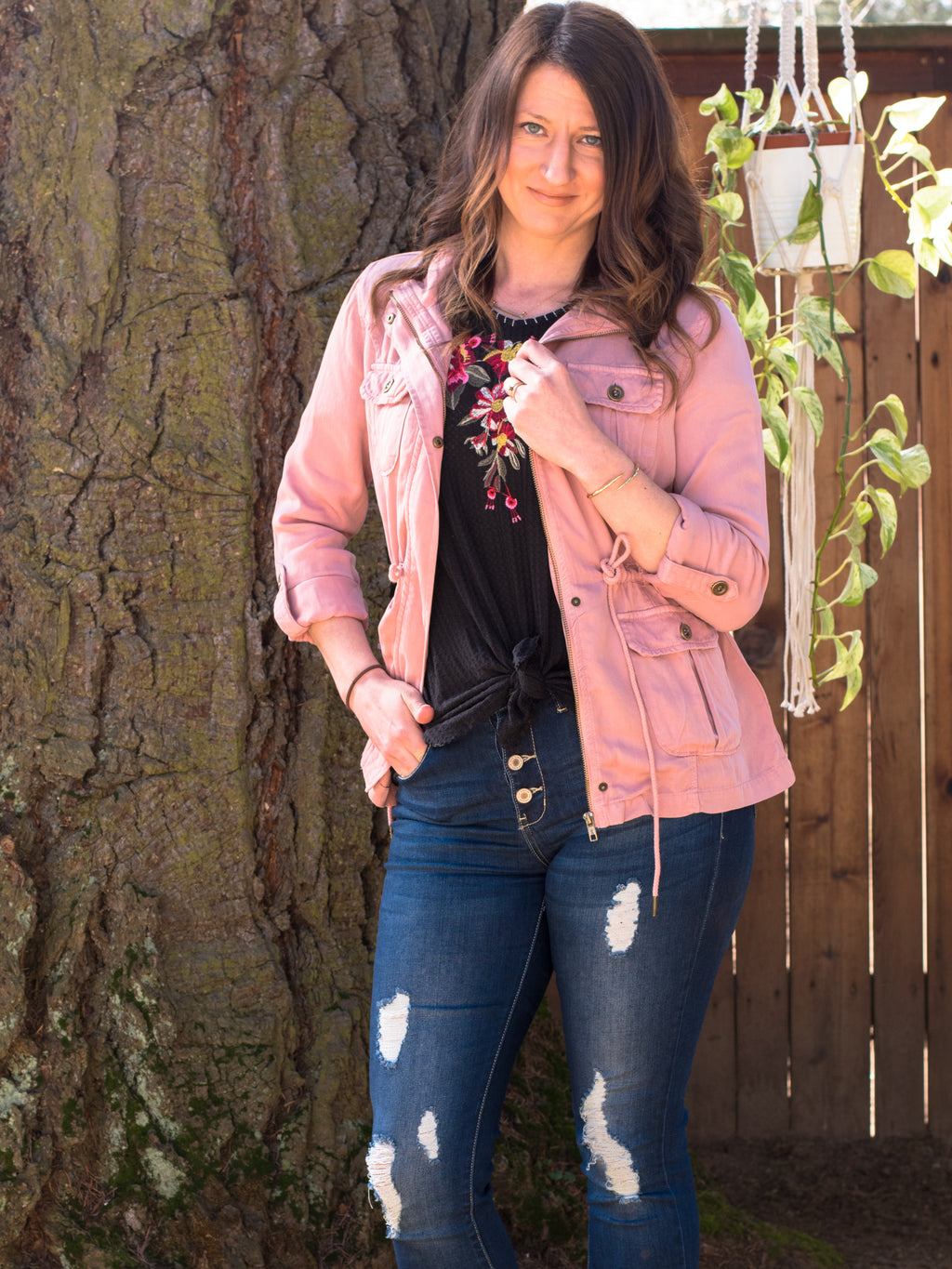 Blush Tencel Jacket - Enclothe Boutique