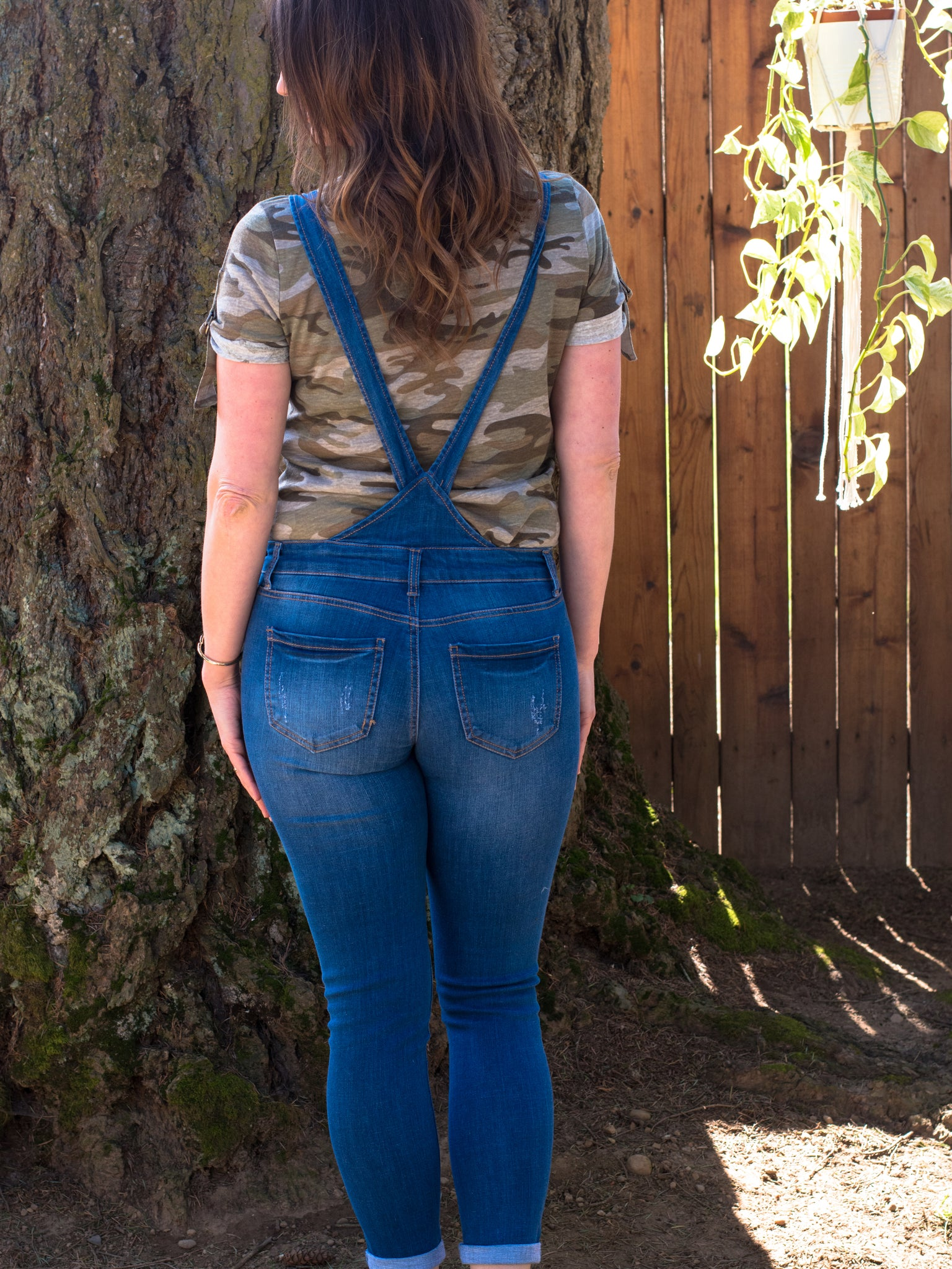 Throwback Distressed Overalls - Enclothe Boutique