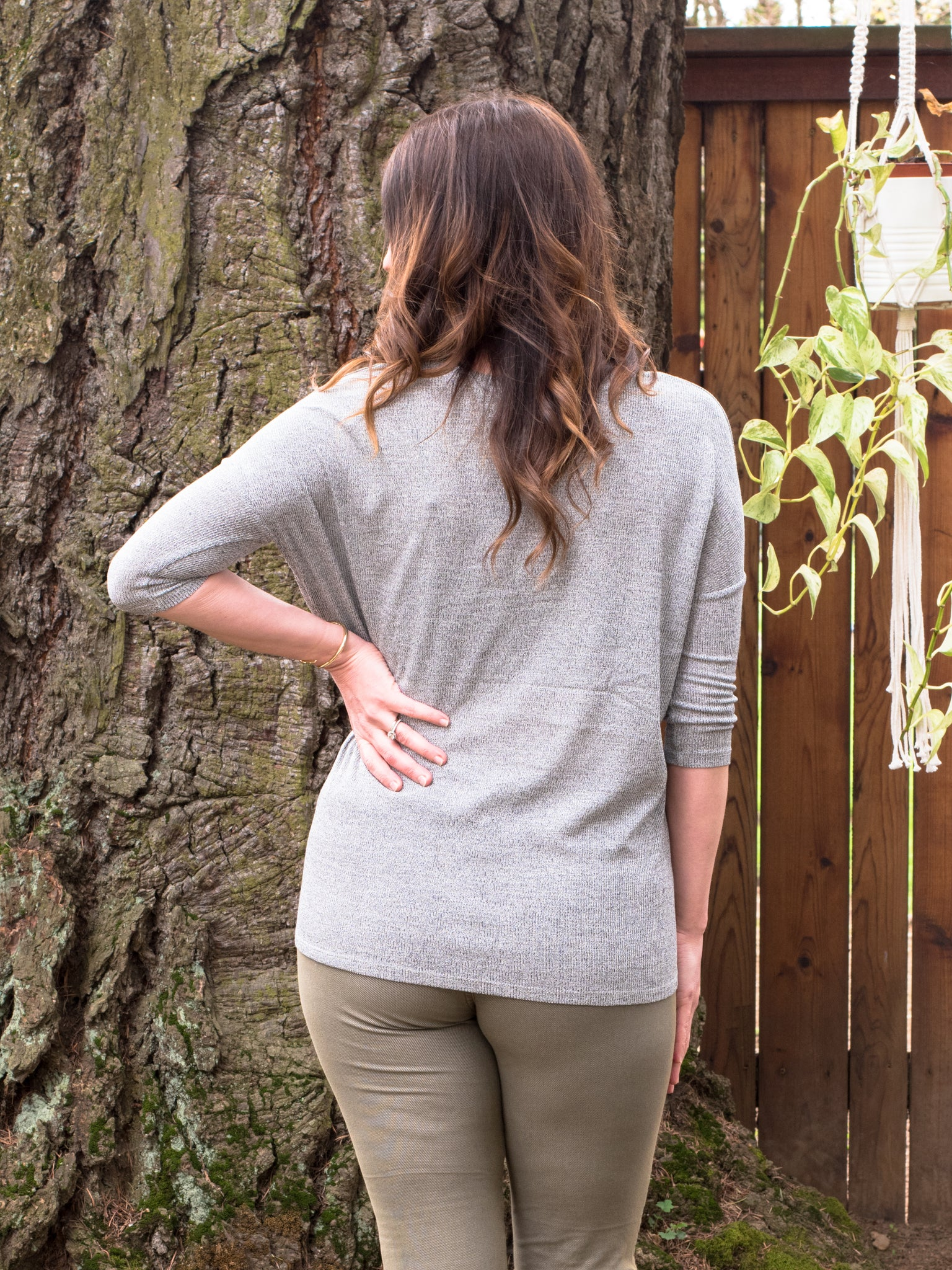 Knotted Little Tee in Grey Melange - Enclothe Boutique
