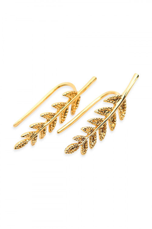 Leaf Creeper Earrings - Enclothe Boutique