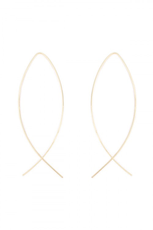 Wire Loop Earrings in Gold - Enclothe Boutique
