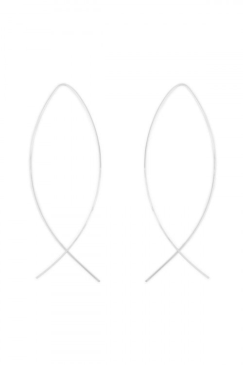 Wire Loop Earrings in Silver - Enclothe Boutique