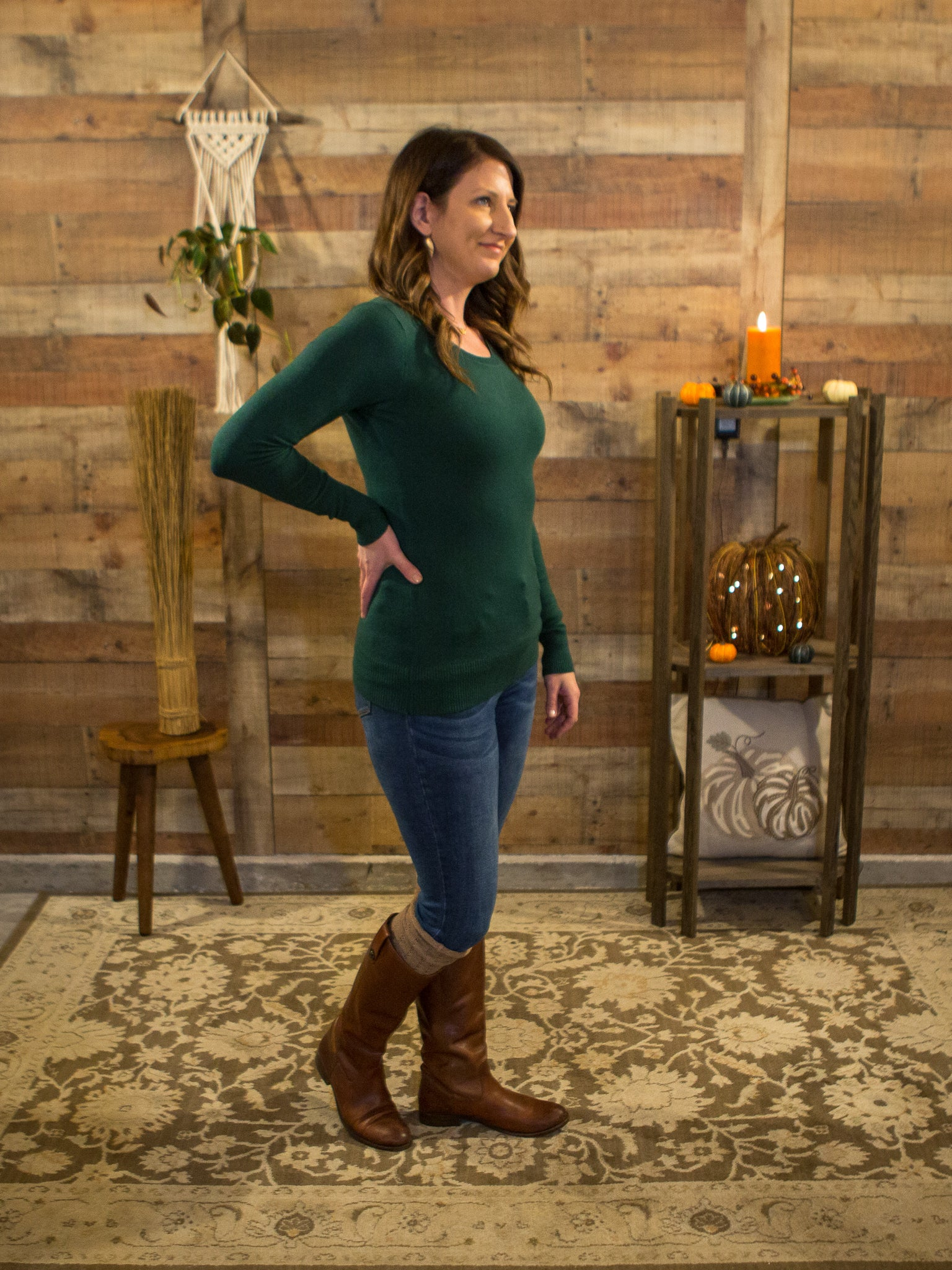 Elementary Watson! Layering Sweater in Green - Enclothe Boutique