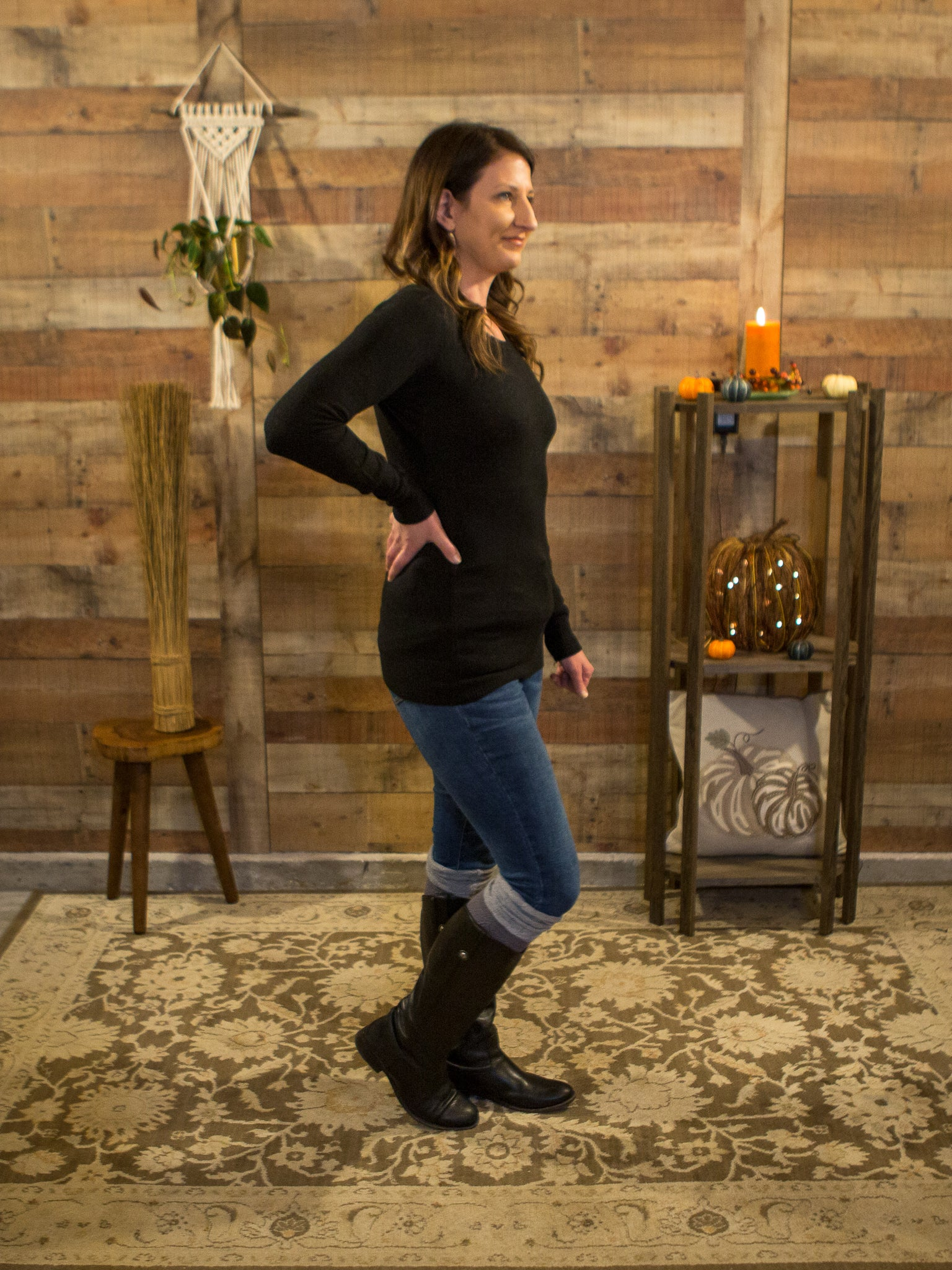 Elementary Watson! Layering Sweater in Black - Enclothe Boutique