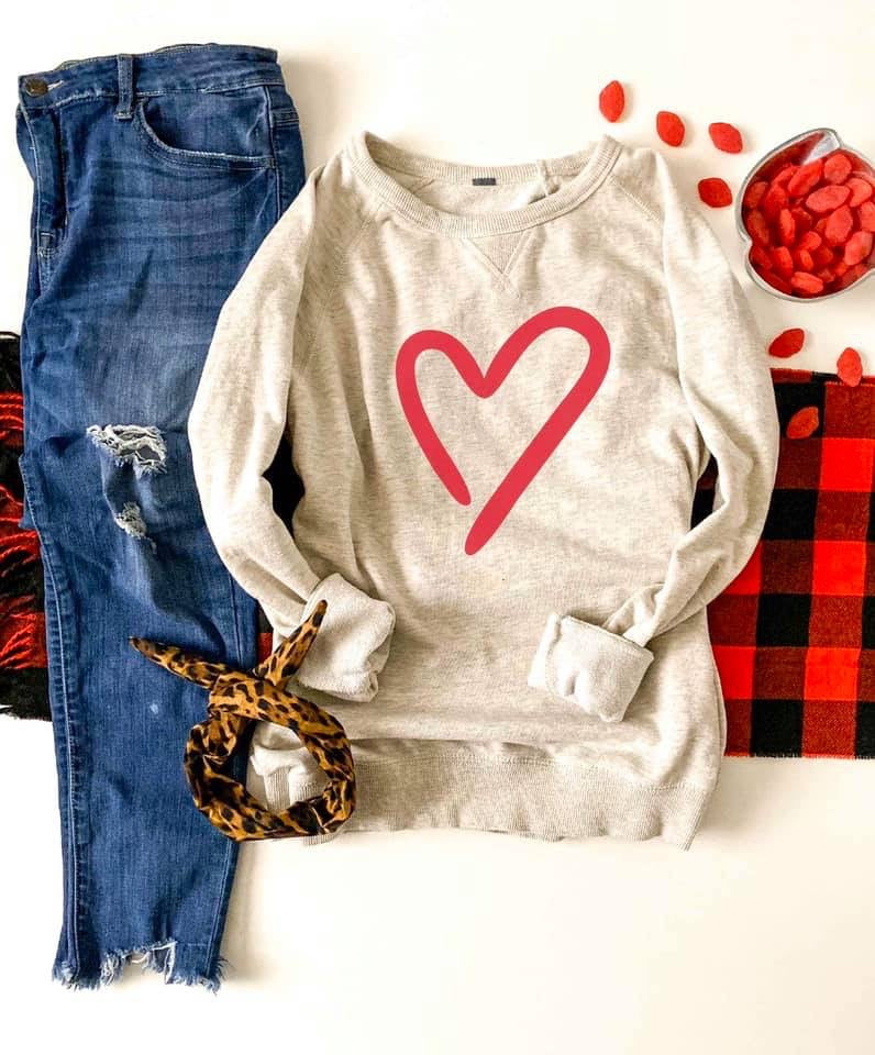 Cross My Heart Pullover - Enclothe Boutique