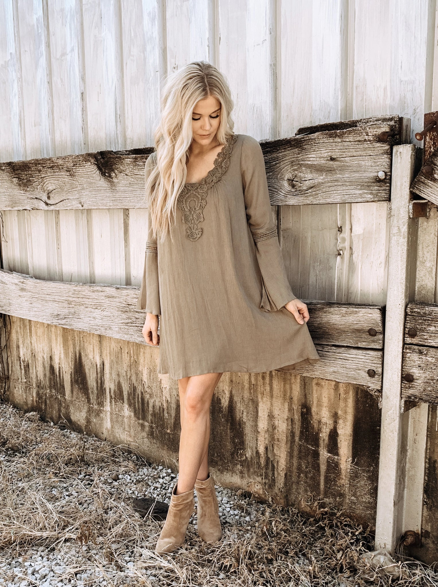 Olive Branch Dress - Enclothe Boutique