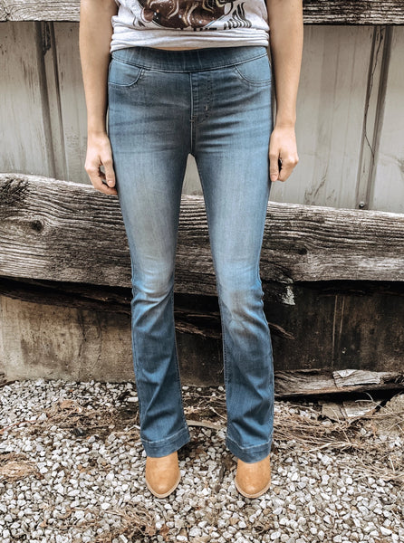Flare Pull-on Jeans