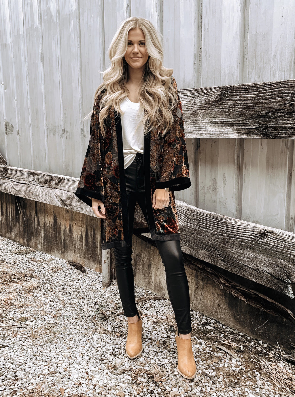 What Dreams are Made of Velvet Kimono - Enclothe Boutique