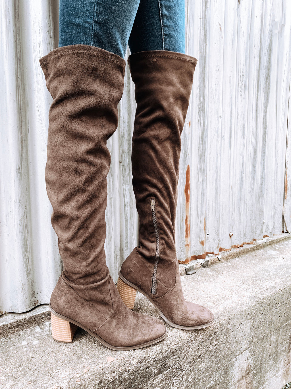 Over the Knee Suede Boots - Enclothe Boutique