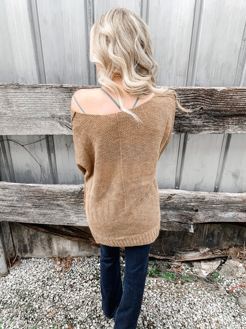 Spring Fav Sweater in Mocha - Enclothe Boutique