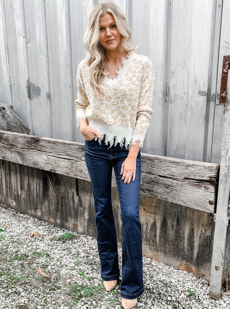 Seeing Spots Leopard Sweater - Enclothe Boutique