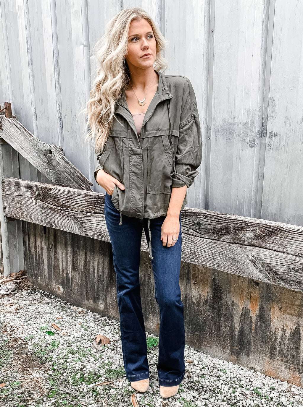 Spring Green Parachute Jacket - Enclothe Boutique