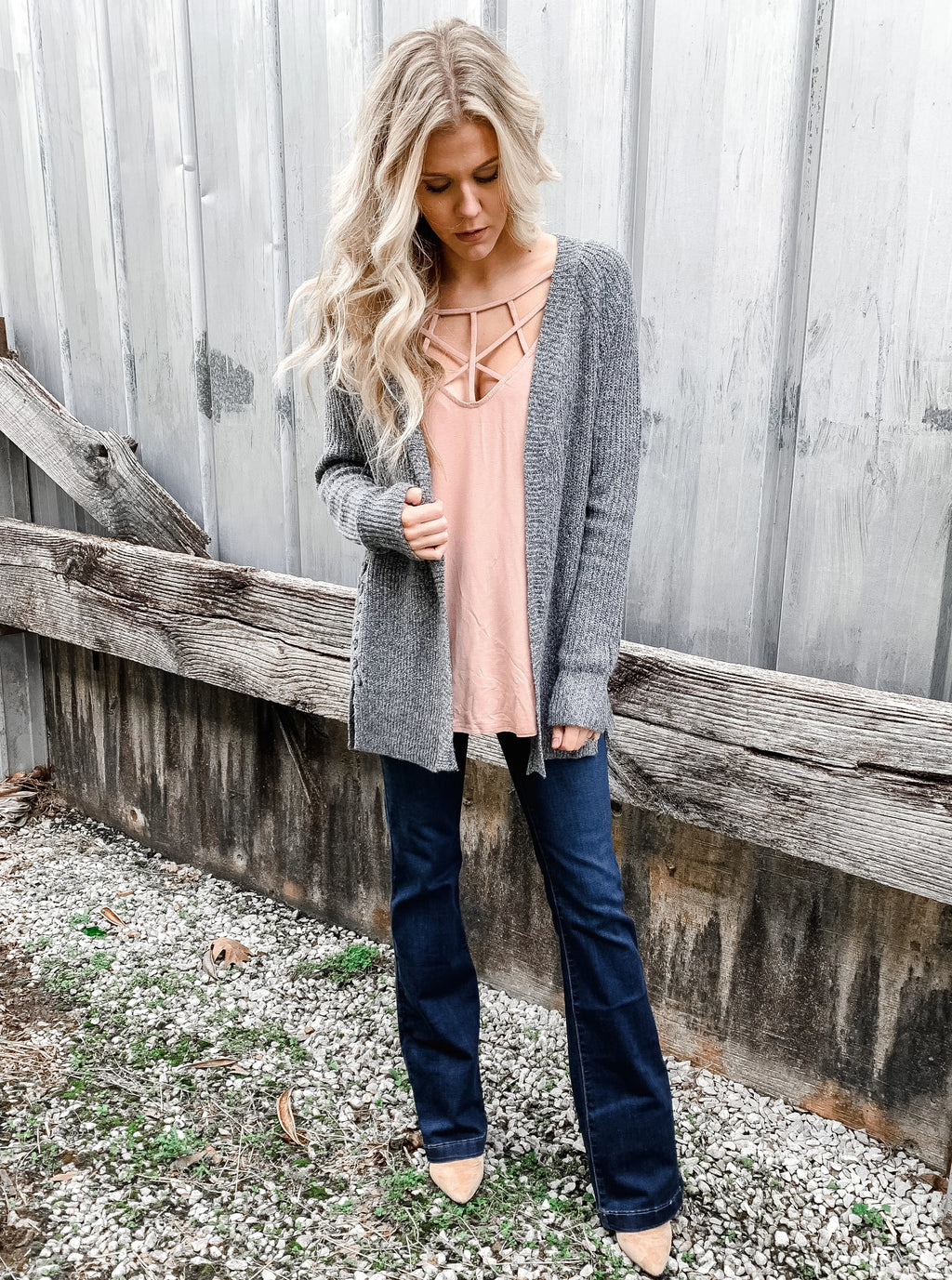 Crossroads Gray Cardigan - Enclothe Boutique
