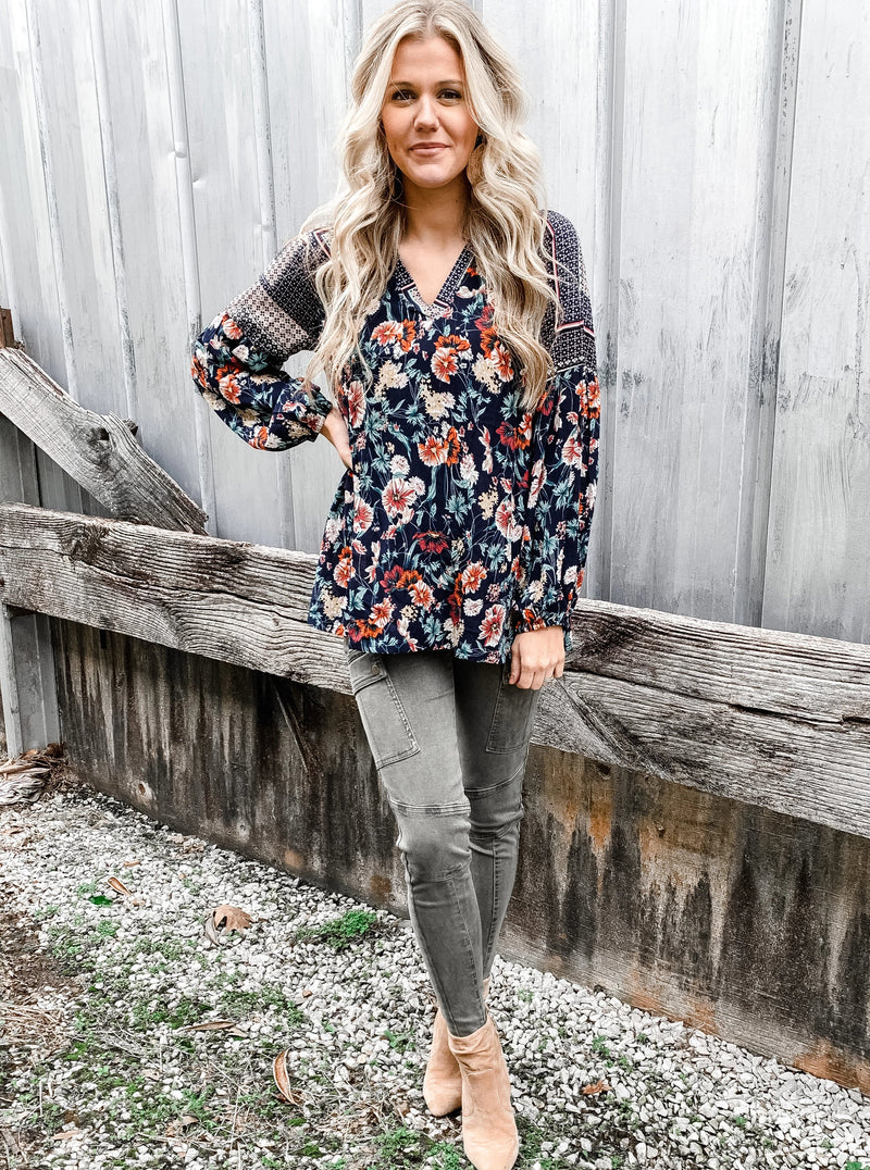 You Belong Among the Wildflowers Blouse - Enclothe Boutique