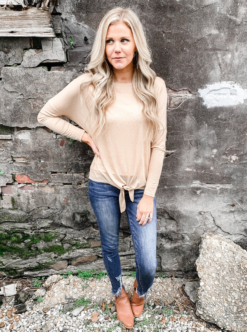 Silky Soft Layering Top in Taupe - Enclothe Boutique