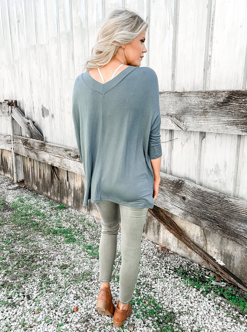 Don't be Blue Layering Top - Enclothe Boutique
