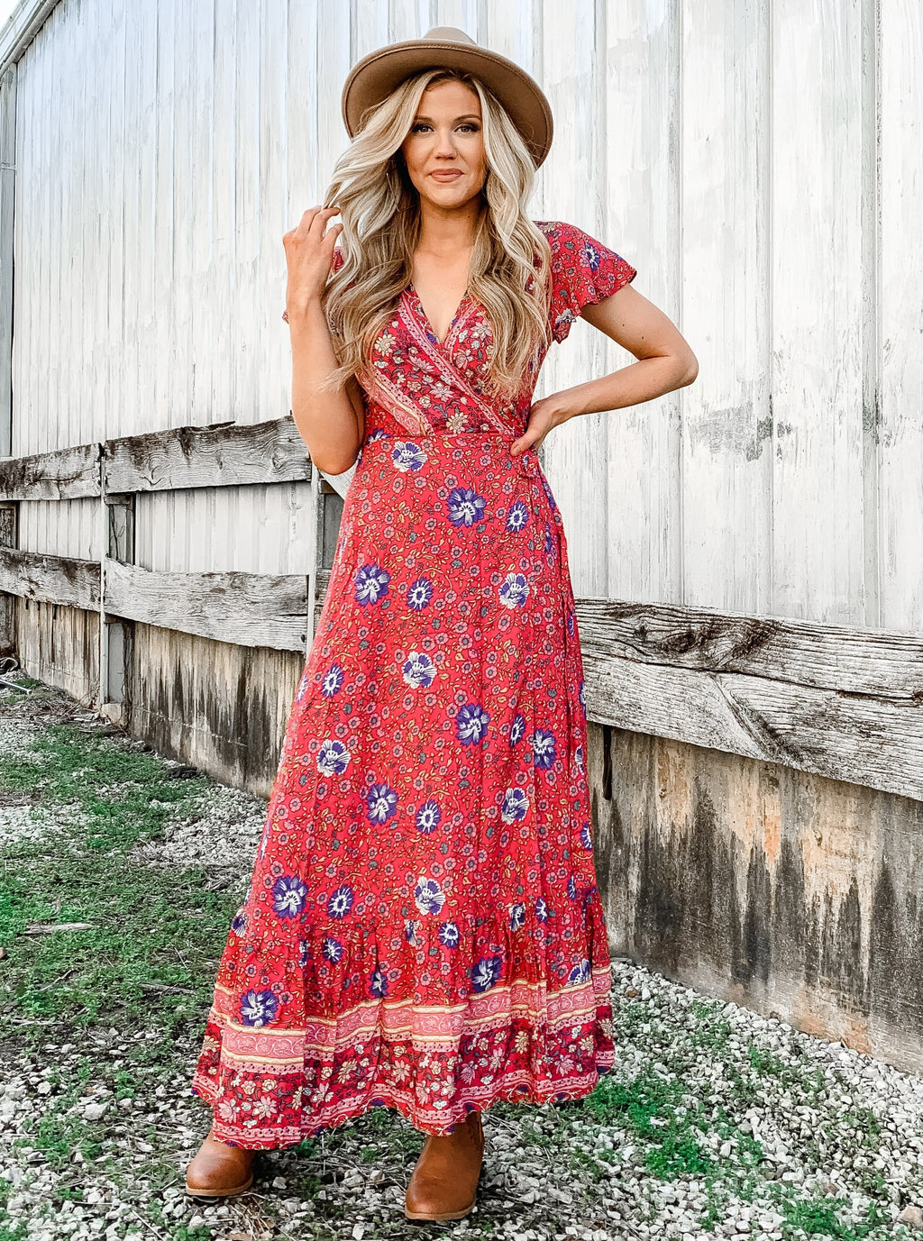 Creme de la Creme Wrap Maxi Dress - Enclothe Boutique