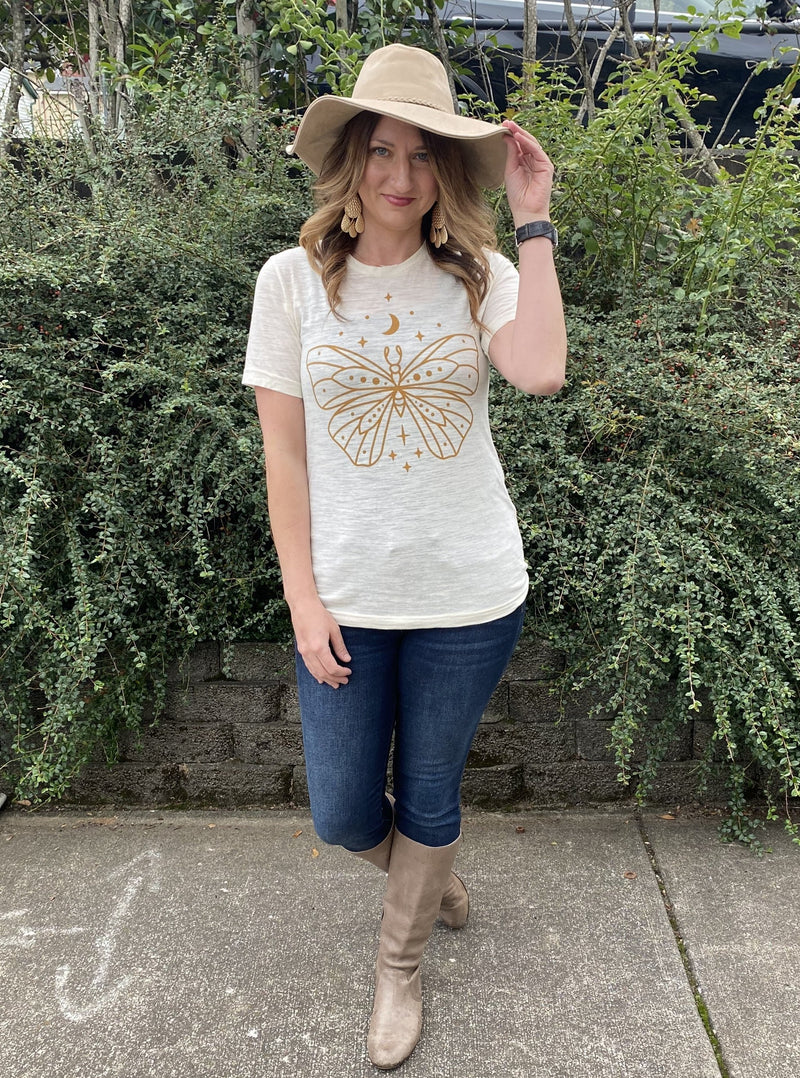 Boho Butterfly Graphic Tee