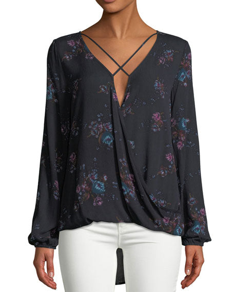 Dex Crossfront Floral Blouse - Enclothe Boutique
