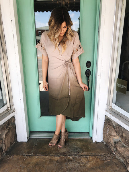 Ombre Statement Dress - Enclothe Boutique