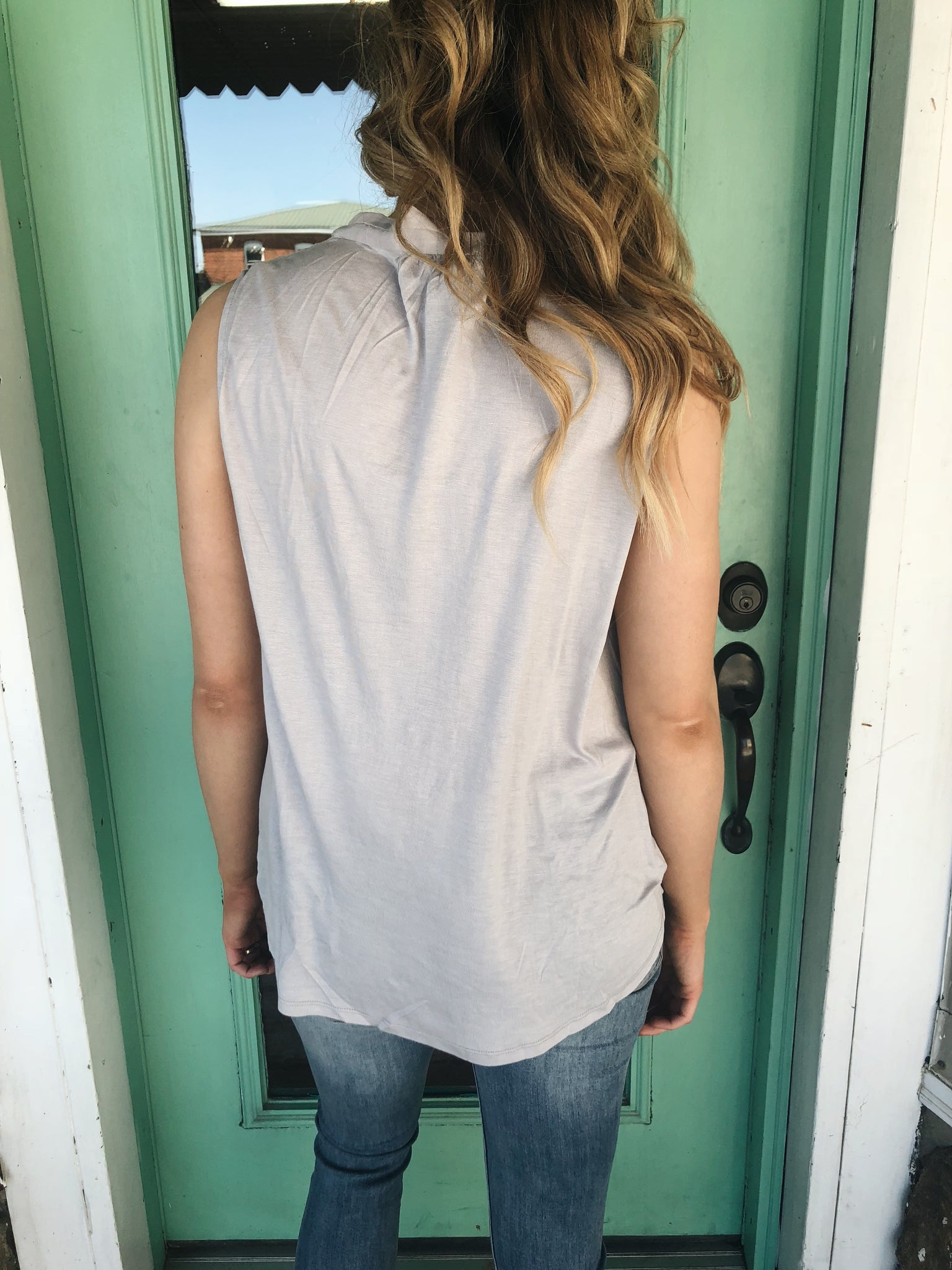 Crossover Sleeveless Shell - Enclothe Boutique