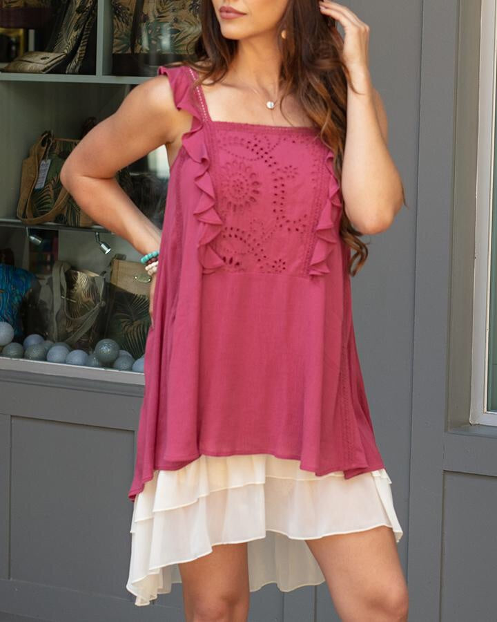 G&L Southern Sweet Ruffled Tunic - Enclothe Boutique