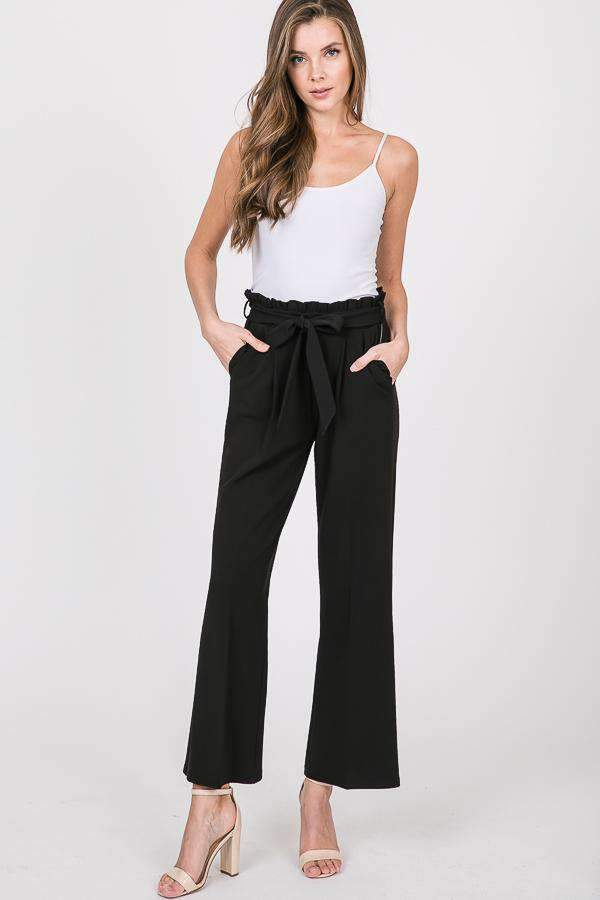Tie Waist Wide Leg Pants - MD Sale - Enclothe Boutique