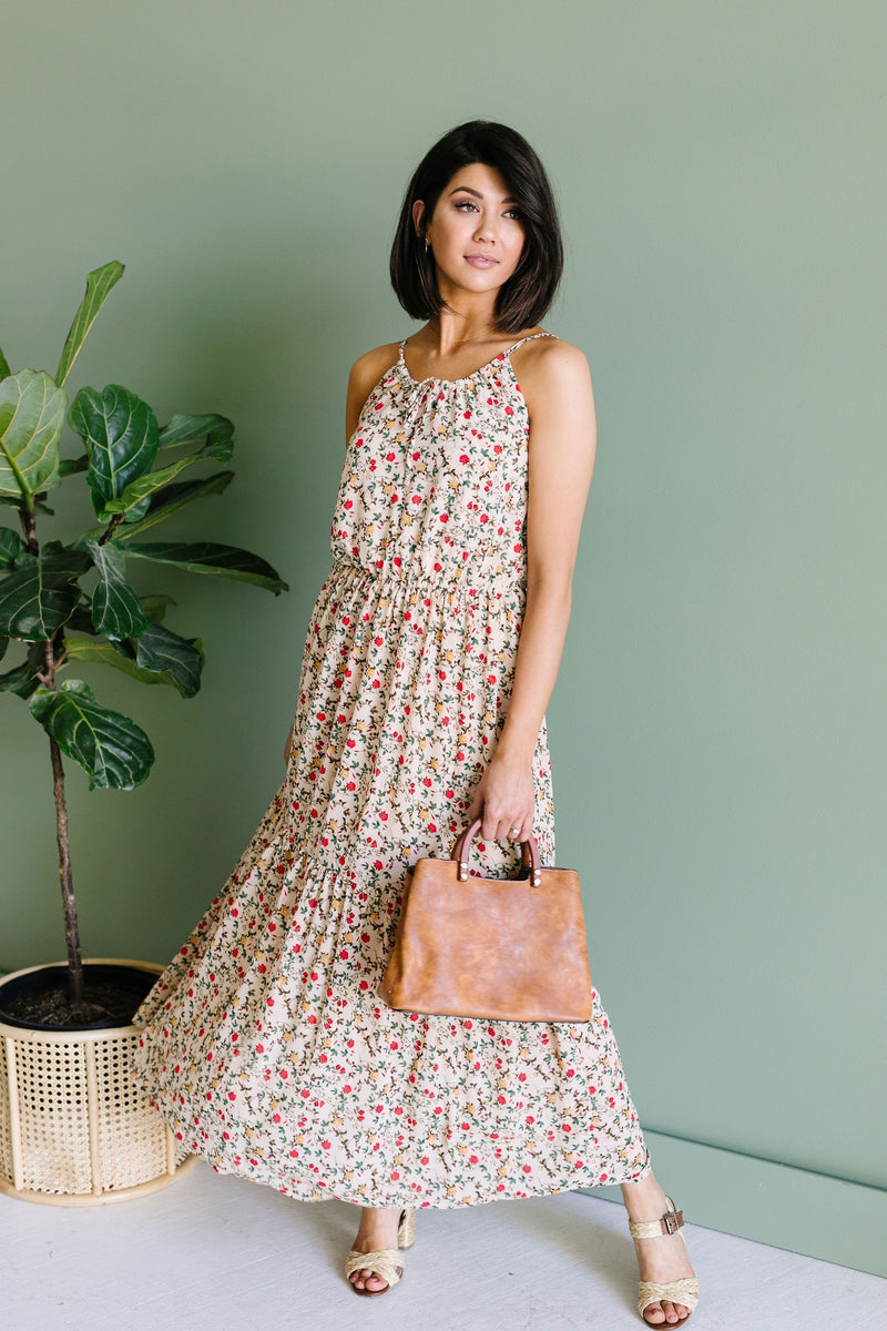 Miniature Roses Maxi Dress - Enclothe Boutique