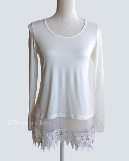 Long Sleeve Extender in Cream - Enclothe Boutique