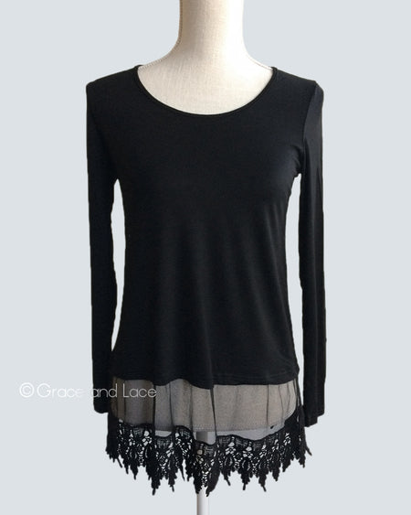 Long Sleeve Extender in Black - Enclothe Boutique