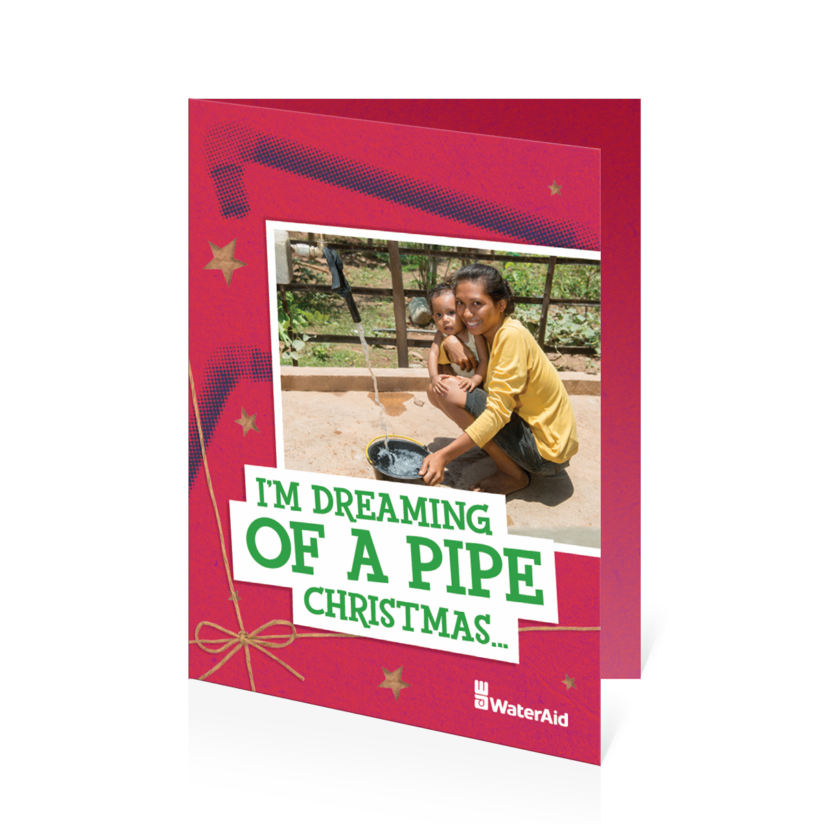 $15 can help pipe water to a village (Christmas card)