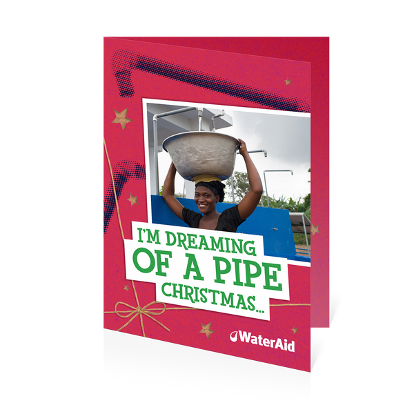 $13 can help pipe water to a village (Christmas card)