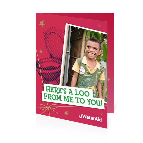 $40 can help give a family a toilet (Christmas card)